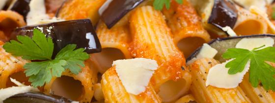 Rigatone Pasta Alla Norma Italian Food